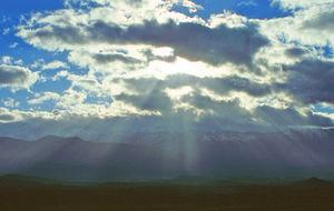 Morgon över Atlasbergen