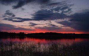 Autiojärvi på kvällskvisten