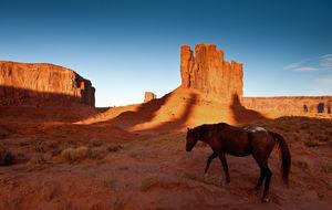 Nära John Ford´s Point i Monument Valley
