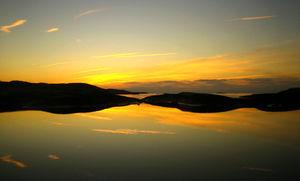 Vacker solnedgång i Basteviken på Nordkoster.