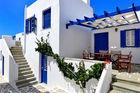 Handplockade hotell i Grekland med atmosfär