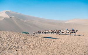 De sjungande sanddynerna i Dunhuang