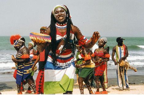 Solsäkert längs Gambias kust