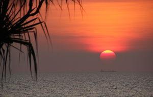 En av alla fantastiska solnedgangar i Darwin