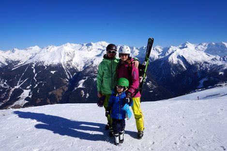 Familjeresa till Alperna