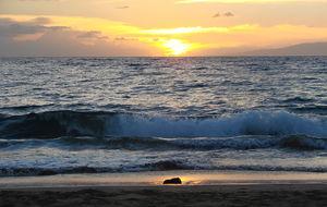 Solen går ner på Maui