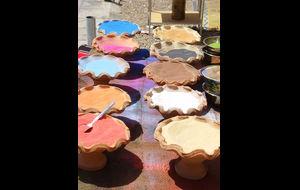 Färgad sand