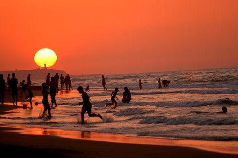 Strandliv och stadsmyller i Marocko