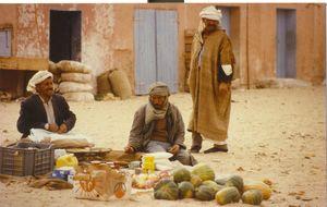 Grönsaksförsäljare i El Oued