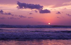 Solnedgången på Kuta Beach, Bali