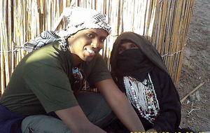 en äldre Beduien kvinna
