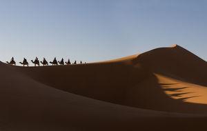 Erg Chebbi öknen i sydöstra Marocko.