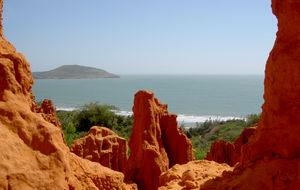 Utsikt från röda sandberg