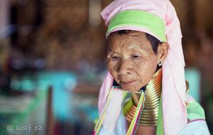 Kayen long neck woman in Myanmar
