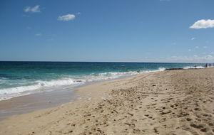 Strand, hav o himmel