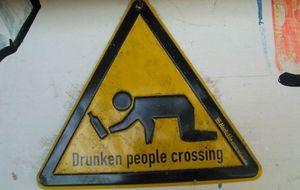 Varning för fulla människor på Sri Lanka