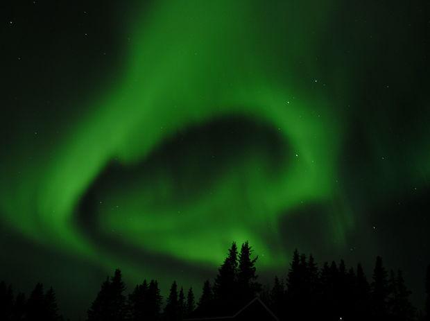 Norrsken i Jukkasjärvi - Jukkasjärvi - Icehotel - Sverige