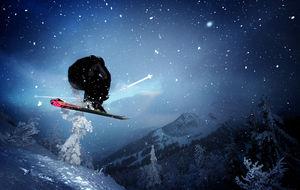 Kunnig skidåkare