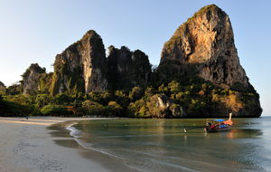 Morgonljus, Railay Beach West