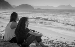 Tidig morgon, Leme, Copacabana, Rio de Janeiro.