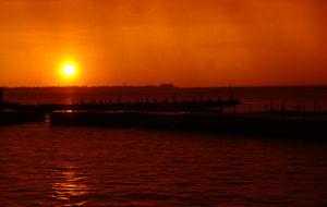 Sagolik solnedgång - som en grapefruit :-)