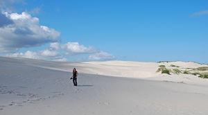 Vit sand så långt ögat når på västra Jylland.