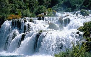 Vattenfallen i Krka/Kroatien