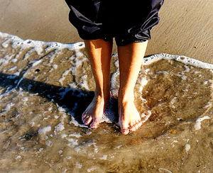 Härligt att doppa fötterna...