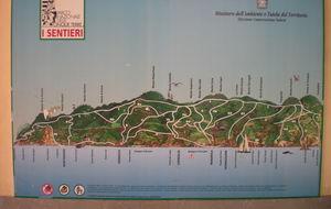 Karta över Cinque terre