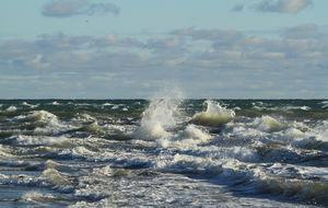 Skagerak och Kattegatt möts i vilda vågor