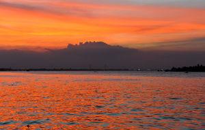 Solnedång i Mekongdeltat