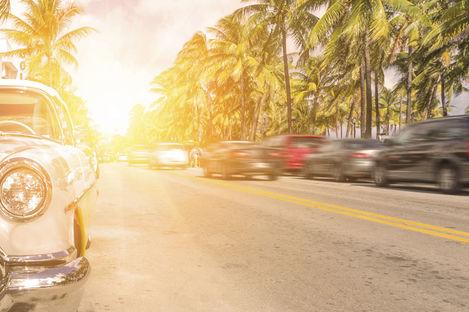 På fyra hjul i Florida