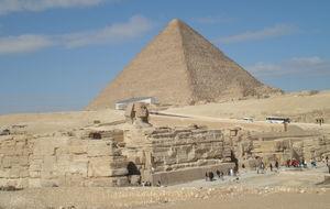 Pyramid och sfinxen