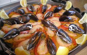 Äkta spansk Paella. Mums* Farmor är en duktig kock !!