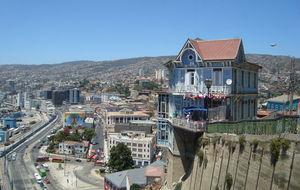 Detta hus är med på de flesta vykort från Valparaiso och även i en del guideböcker.