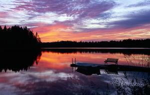 Solnedgång i småland