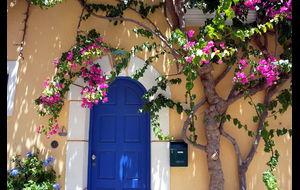 Blomsterprydd port
