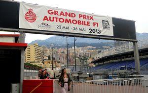 Monaco förbereder för Formula 1 tävlingen, ställningar för åskådarna har redan byggts upp på flera ställen i staden....