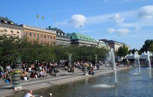 """På väg hem, """"Kungsträdgården"""""""