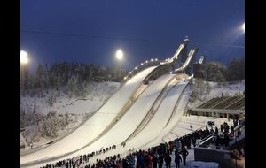 Klassisk skidstadion i Lahti
