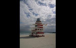 Ett av många livräddningstorn på South beach, alla med olika teman.