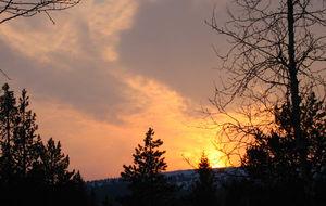 Solnedgång i Sälen