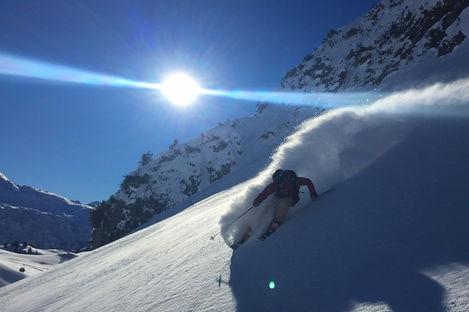 Solsäkert i Alperna