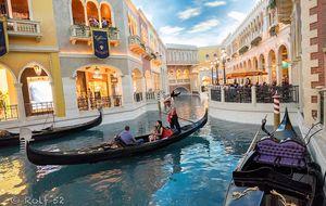 Gondoltur inne i The Venetian