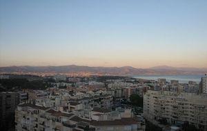 Utsikten från lägenheten, ser till malaga!
