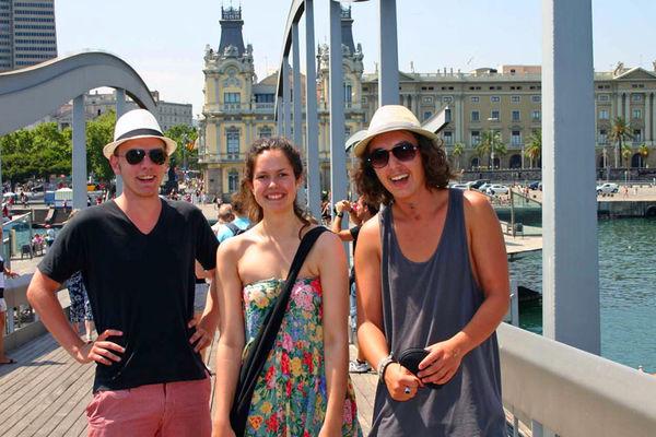 Glatt gäng  i Barcelona.