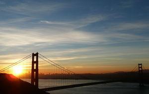 Golden Gate i soluppgång