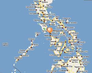 Boracay ligger i Filippinerna, strax norr om ön Panay.