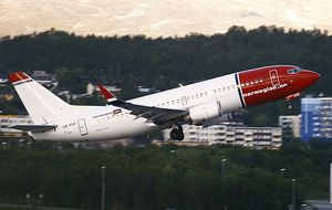 Norwegian takeoff
