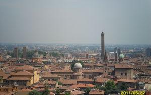 Vy över Bologna